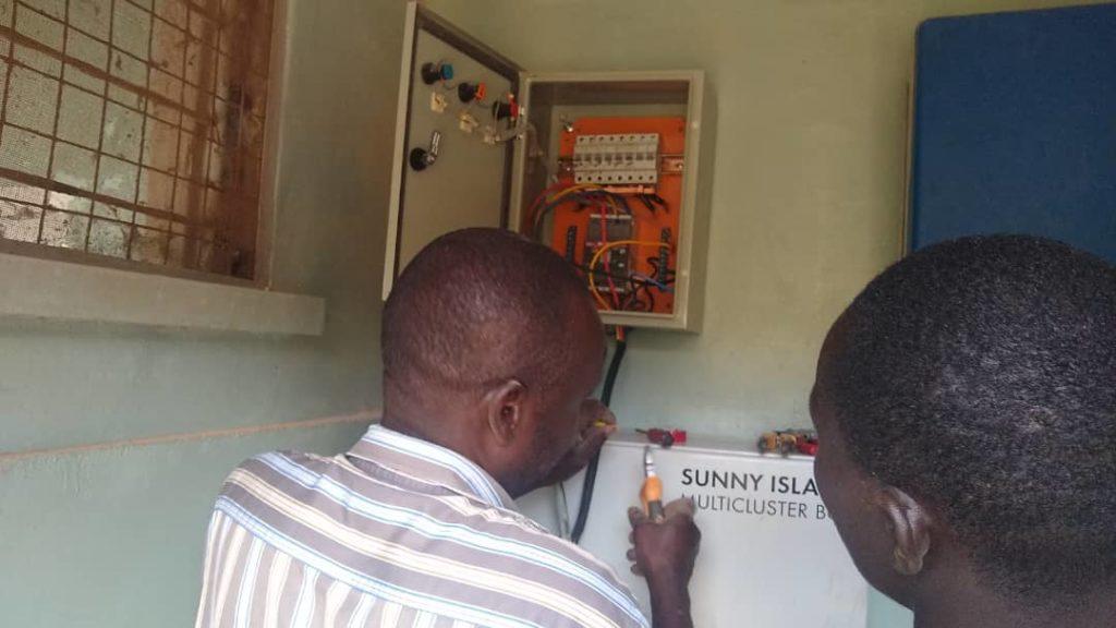 Solar plant installation at St Bakhita Vocational Training Center